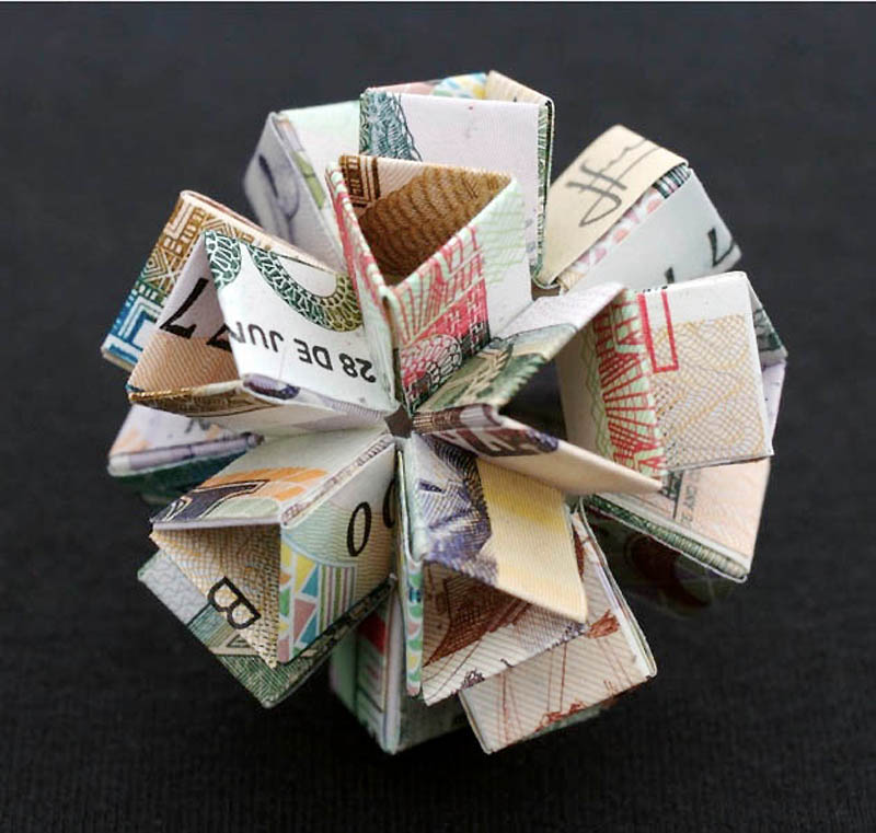477 Потрясающие фигуры из денег